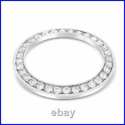 Midsize 2ct Bead Set Diamond Bezel 14kw For Rolex 31mm Datejust, President