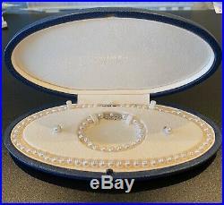 Mikimoto 18k White Gold Pearl Earrings, Necklace & Bracelet Set LC0072845Set