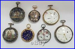 Moricand A Gold Enamel And Pearl Set Verge Watch Signed Cht Circa 1780