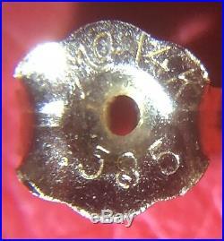 My Grandmas Estate Vintage Mikimoto 14K 585 Gold 7mm Pearl Necklace Earrings SET