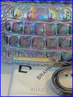 NWT BRAHMIN Large Duxbury Mother Of Pearl Melbourne Handbag & Ady Wallet Set
