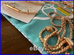 NWT Kendra Scott Set Beatrice Necklace & Bexley Earrings Rose Gold Ivory Pearl