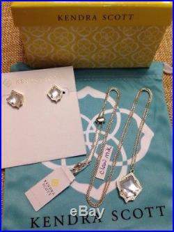 41867bc0e NWT Kendra Scott Set Kacey Pendant Necklace/ Kirstie Earrings Gold Ivory  Pearl
