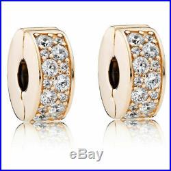 New set of 2 pandora14k Gold Set Of Shining Elegance Spacer Clip 750842cz Charm