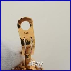 Otsuki Pearl Diamond 18K Earrings & Brooch set 0.04ct Gold Decorations