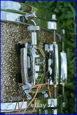 PEARL MASTERS STUDIO SNARE DRUM in GOLDEN BRONZE GLITTER for YOUR DRUM SET! E542