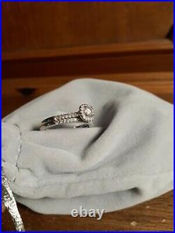 PRICE DROP! DIAMOND ENGAGEMENT/WEDDING RING SET IN WHITE 10k GOLD