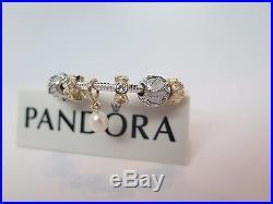 Pandora 2 Tone Diamond & Pearl Perfection with Gold Bracelet Gift Set 590702HG
