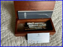 Parker Duofold Centennial Pearl & Black Set, All 4, FP, BP, RB, MP, New In Box