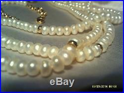 Pearl necklace set and 14k gold
