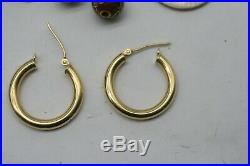 Peter Brams 14K Yellow Gold Hoop earrings with 6 sets of Bead Charms A3