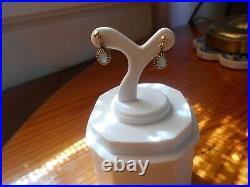 Petite Tear Drop Opal Earrings Set In 14K Yellow Gold In Remarkable Condition