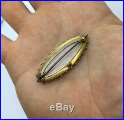 Pretty Ornate Antique Victorian Sapphire & Pearl Brooch Set In 15ct Gold