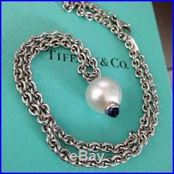 RARE Tiffany & Co. South Sea Pearl Necklace 18k White Gold Platinum Setting 16