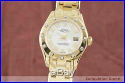 Rolex Datejust Pearlmaster Lady 18K Gold Diamanten Ref. 80318 Full Set LC100
