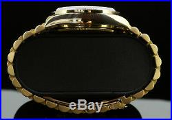 Rolex Mens Presidential Day-Date Mother Of Pearl Quick Set Diamond Dial Bezel