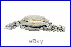 Rolex Watch Men's Datejust Quick set Two-Tone Champagne Linen Stick Dial 36mm