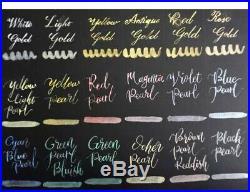 SCHMINCKE Horadam Watercolor Gold-Pearl Metallic Ltd Edtn 18 Half Pan Travel Set