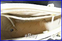 SET Brahmin Medium Asher Tote/Shoulder Bag + Checkbook Wallet in Pearl Melbourne