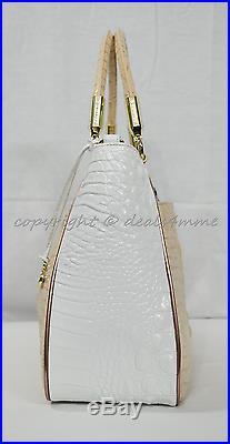 SET of Brahmin Ruby Satchel/Shoulder Bag + Wallet in Apricot Crandon Tri-Color