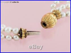Schmuckset Kette und Armband Perlen 750er Gelbgold