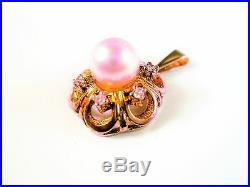 Schmuckset (Ring, Anhänger, Ohrringe) Gold 585 mit Perlen und Brillianten
