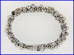 Schmuckset Ring Brosche Armband Collier 750er Weiß-Gold Tahiti-Perlen Brillanten