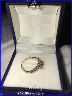 Secret Ring Georgian Mourning Locket Ring, Set In Gold, Sapphire & Pearl. Super