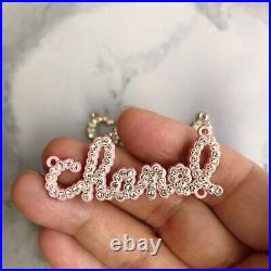 Set Of 3 Chanel Letter Flat Button 29.718.5mm Metal Pink/Gold/Pearl/rhinestone