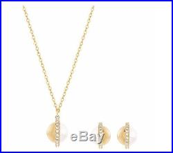 Swarovski Celestin Set, Gold-plated Crystal Pearl Authentic MIB 5119501