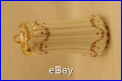 Theodore Haviland Schleiger 1114 Drop Rose Double Gold Demitasse Chocolate Set