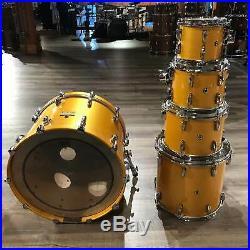 Used Pearl Masters Studio 5pc Drum Set Antique Gold