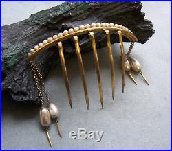 Victorian hair comb hair pin set Moorish style faux pearl hair accessories