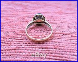 Vintage 14k Gold Ring Pierced Setting Inset Black Pearl Size 7 3/4 585