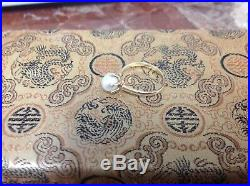 Vintage 6 or 7mm Cultured Pearl Ring Set in 14k Gold with Six Prongs Hallmark C