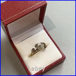 Vintage Antique Sapphire Pearl Diamond Set 18ct Gold Fancy Ring Chester 1904 P