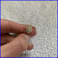 Vintage Dainty Cluster Cultured Pearl Set Ring 14K Yellow Gold Size 6
