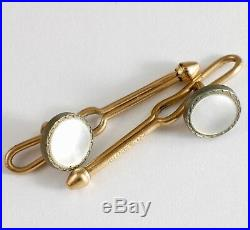 Vintage Krementz Mother of Pearl Cufflinks & Stud Buttons Set of 6