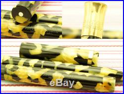 Vintage Sheaffer's Lifetime Oversize Senior Black Pearl Fountain Pen Pencil Set