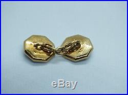 Vintage art deco onyx pearl 18ct gold & Platinum Cufflink, dress shirt stud set