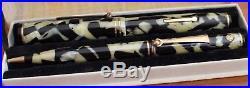 WAHL Black and Pearl Fountain Pen Pencil SET X GOLD SEAL MINT FLEX NIB Boxed