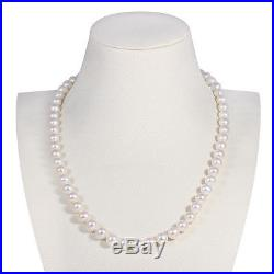 White Freshwater Pearl Necklace and 18ct Gold Pearl Earrings Set RRP £725 NEW