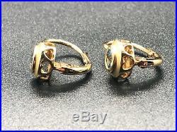 Women's 14K Yellow Gold Bezel Set Blue Topaz Drop Earrings